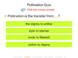 Plant Reproduction Click to Enter INSTRUCTIONS Ensure that you ...