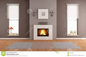 Modern Living Room With Fireplace Modern Living Room With Fireplace Stock Illustration Image 43023424