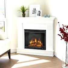 full image for dimplex contemporary convertible corner electric fireplace in white real flame wood black branson