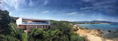 pieds dans l eau à bénat villa vue mer panoramique à bénat projet maison contemporaine à bénat