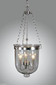 bell shaped chandelier nickel finish clear glass jar shade pendant lantern shades
