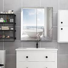 tangkula bathroom cabinet wall mounted