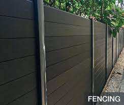 Composite Privacy Fence Euro Style 6 Ft H X 6 Ft W Estate Black Rose
