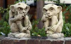 life size garden gargoyles can help to form the bones of your garden giving it a sense of shape as well as reuring a sense of permanence throughout the