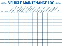 Auto Maintenance Logs 17 Vehicle Maintenance Log Templates Free Download