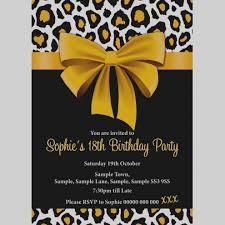 Inspirational Of Leopard Print Birthday Invitations Templates On