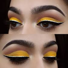 if you pull another line of shimmery eyeliner above the black eyeliner you will make