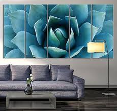 >amazon tanda large wall art blue agave canvas prints agave  amazon tanda large wall art blue agave canvas prints agave flower large art
