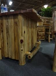 log rustic furniture amish. Amish Rustic Cedar Log Furniture Bar