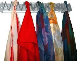 scarf rack wall