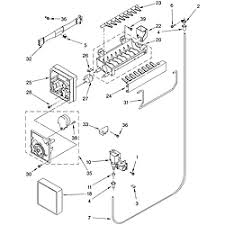 roper top mount refrigerator parts model rt21lmxkq03 sears icemaker part