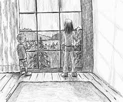 window drawing. Beautiful Window Window On The Lake Life People Drawings Pictures Drawings Ideas For  Kids Easy And Simple On Drawing