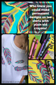 Fabric Printing (Permanently) with Crayons and Sandpaper