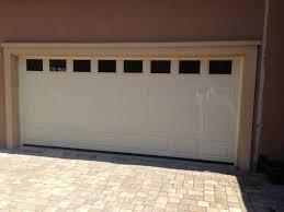 almond garage doorHaas Garage Door 2580 in almond with solid windows  Installed by