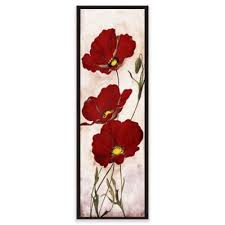 red look floral canvas framed wall art on floral wall art framed with buy framed floral art from bed bath beyond