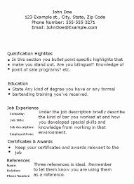 Bartender Resume Examples Magnificent Bartender Resume Objective Samples Quoet Jobs For People With No
