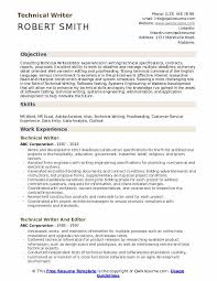 Technical Writer Resume Samples Qwikresume