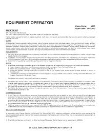 Ideas Collection Heavy Equipment Operator Resume Examples Samples