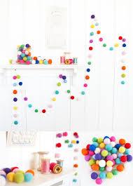festive crafts diy felt ball garland