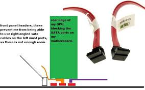 left right angled sata connector e sata bracket storage this would allow me to connect two more sata cables since there are 3 rows of 2 sata cables see diagram below if you don t get the situation