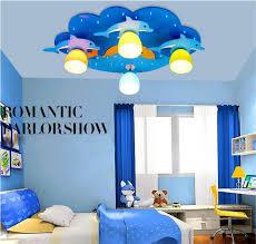 kids bedroom lighting. kids led ceiling lamp blue lighting lights 220v dolphin children e27 led light boys bedroom o