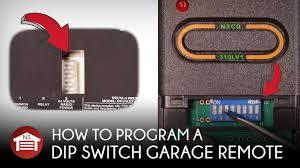 how to program dip switch garage door receiver operator remote
