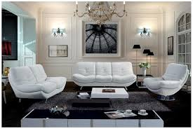 modern white living room furniture. Living Room, Decorative White Livingroom Furniture And Modern Chandleliers With Black Fur Rug Home Design Room O