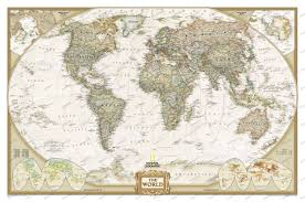 World Map Posters Executive World Map Antique Tones Standard Size