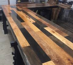 Wood Bar Top Custom Bar Top Worm Wood From Port Of Seattle Docks Port Orchard