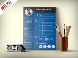Professional Cv Free Download Creative And Professional Resume Cv Free Psd Template