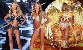 Candice Swanepoel swaps racy black lingerie for golden number at ...