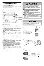 adjustment program the travel limits adjustment step 1 chamberlain whisper drive 248754 user manual page 29 44