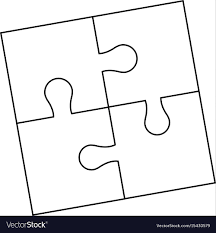 Parts Of Paper Puzzles Business Concept Layout Vector Image