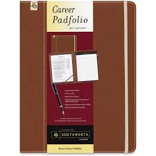 Southworth Resume Paper Neenah Paper Inc Southworth Leatherette Career Padfolio Leatherette Brown Sand 1 Each