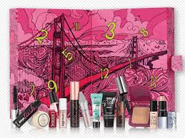 it s a san francisco beauty out with 12 benefit bestsellers pop open each door of your advent calendar for goos galore then turn it over to read