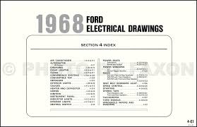 1968 ford galaxie custom and wiring diagram original table of contents page