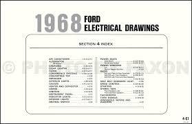 1968 ford galaxie, custom, and ltd wiring diagram original 2006 Ford 500 PCM Location at 68 Ford Custom 500 Fuel Wiring Diagram