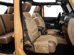 jeep tj seat covers rugged ridge wrangler front cargo seat cover tan 13236 04 87 18