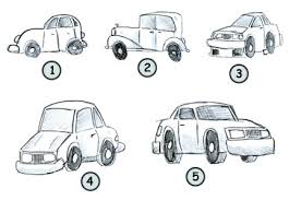 easy to draw cartoon car drawing page