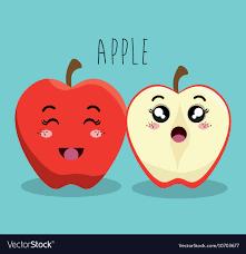 Expression Design Download Cartoon Apple Fruit Facial Expression Design