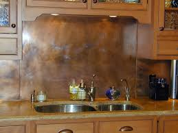 rustic copper backsplash