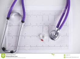 How To Read Cardiogram Chart Doctor Workplace With A Stethoscope Cardiogram Chart With