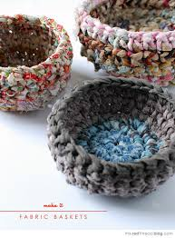how to make crochet fabric baketake your own fabric yarn