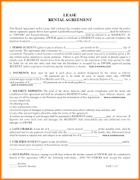 Free Printable Lease Agreement For Renting A House 6 Free Printable Rental Lease Agreement St Columbaretreat House