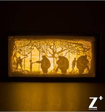 hand made paper wood art night lights children lamp 3d papercut gift boxes led lights fairy tale cartoon bay max big hero 6 in night lights from lights  on 3d paper cut wall art with hand made paper wood art night lights children lamp 3d papercut gift
