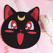 Коврик для компьютерной мыши <b>Sailor Moon Luna</b>, черный ...