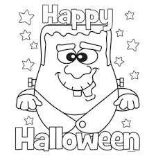 Small Picture Printable Coloring Pages Halloween Easy To Color Easy Draw Print