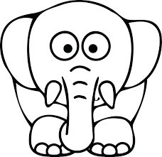 Elephant Picture To Color Elephant Color Page As Well As E Is For
