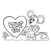 Kleurplaat Valentijn Liefde 3321