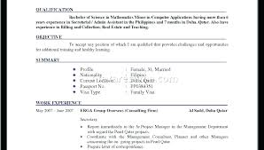 Simple Resume For Job Resume For Job Format Sample Resume For Job ...